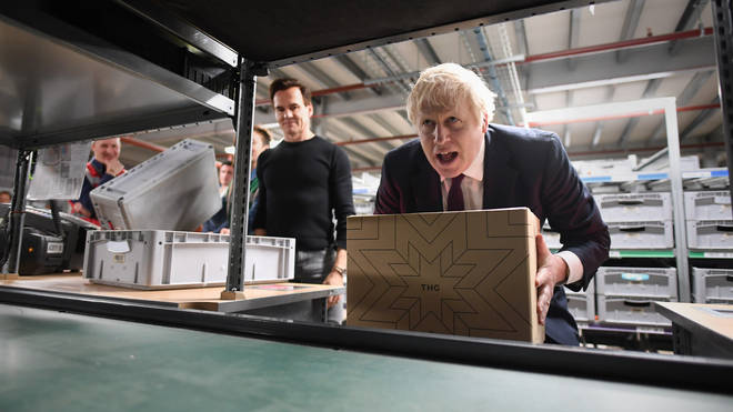 Boris Johnson in the final days of campaigning