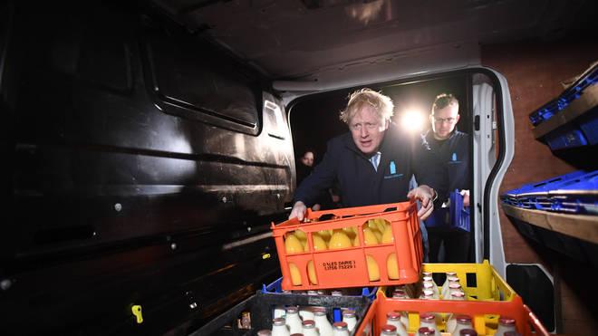 Boris Johnson started his day delivering milk
