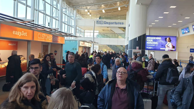People are stranded while flights have been grounded