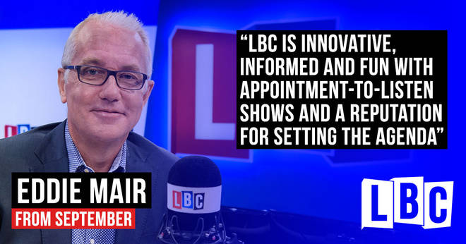 Eddie Mair, from September on LBC
