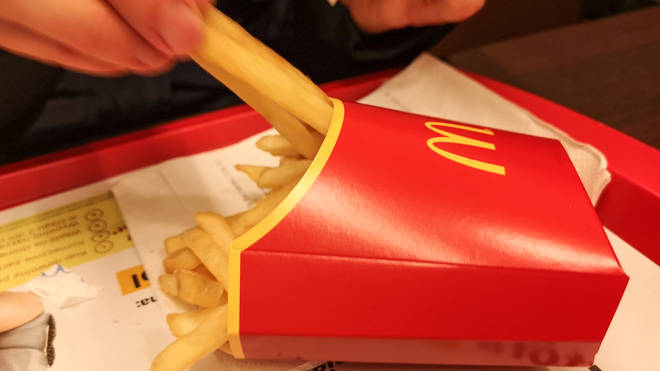 The vegan meal will come with fries