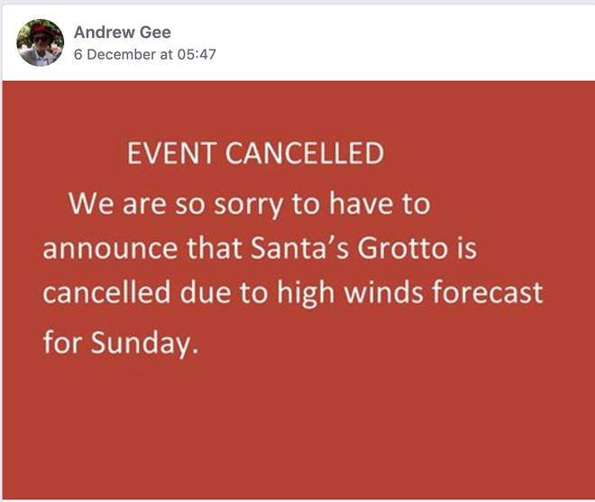 When the event was initially cancelled, it was posted on Facebook