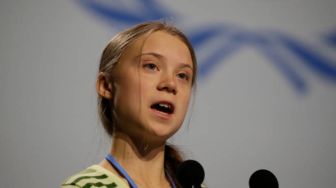 Greta Thunberg speaks at the COP25 summit in Madrid