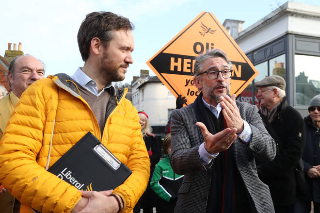 "Steve Coogan urging voters to ""get rid of the government"""