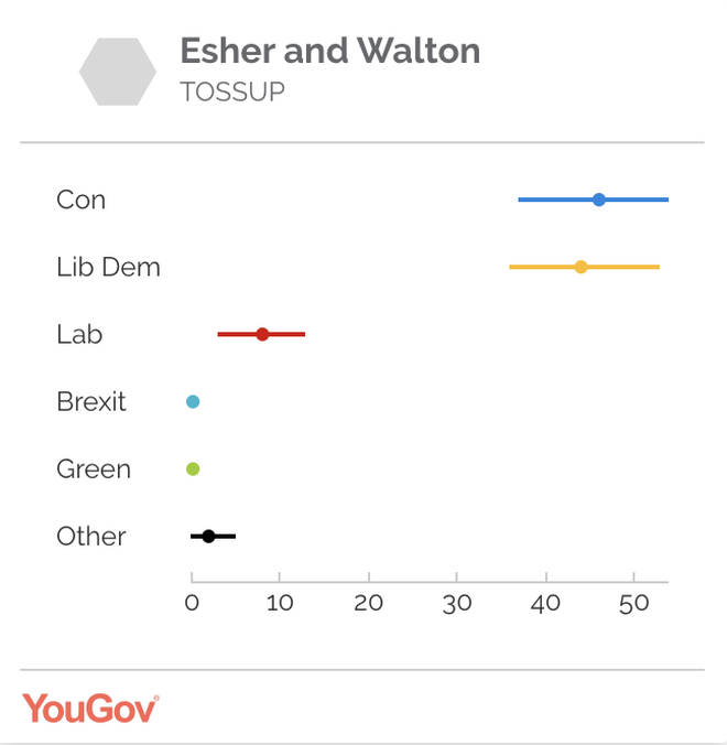 Dominic Raab's constituency - Esher and Walton