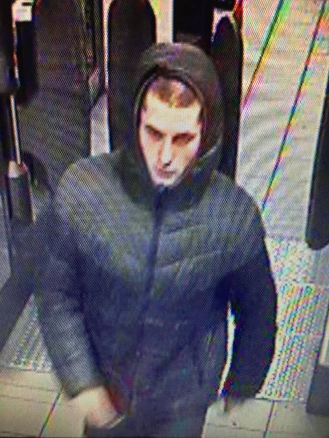 The second image released of the man at an underground station