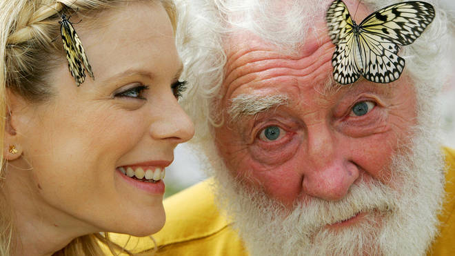 The broadcaster with actress Emilia Fox in 2009