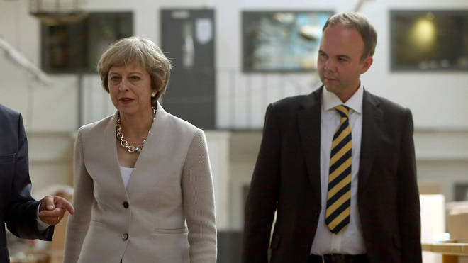 Gavin Barwell with Theresa May