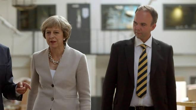 Gavin Barwell with Theresa May