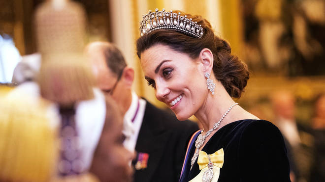The Duchess of Cambridge opted for tiara previously worn by her mother-in-law