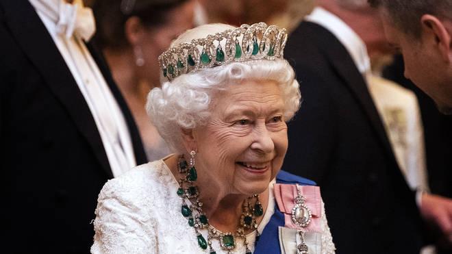 The Queen wore her