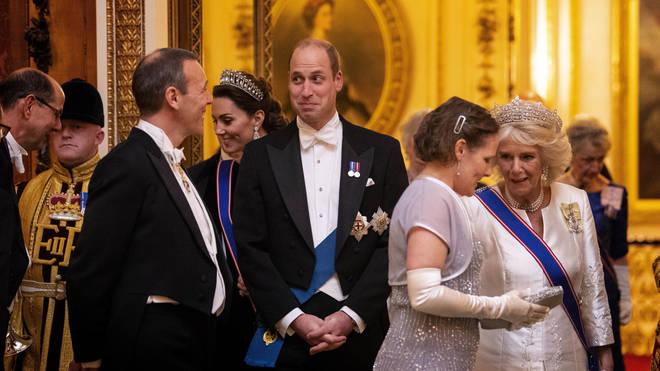 Prince William is seen at the event
