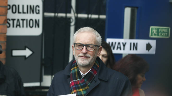Jeremy Corbyn cast his vote in Islington