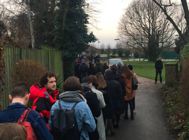 Voters queued for up to 45 minutes in Streatham