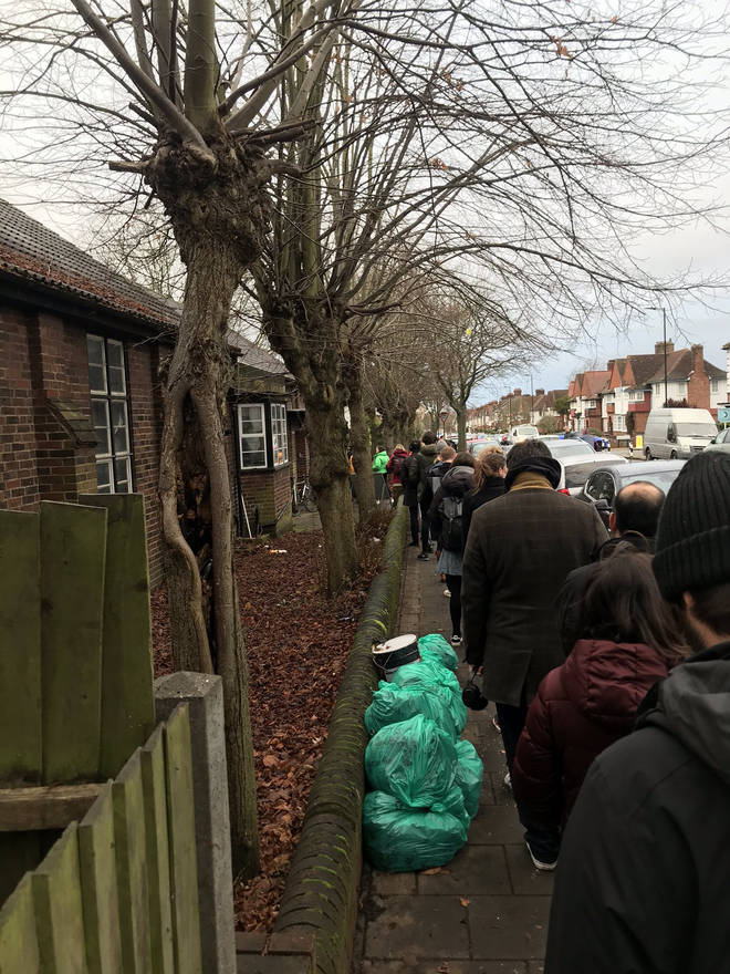 Voters are in large queues in Streatham Hill