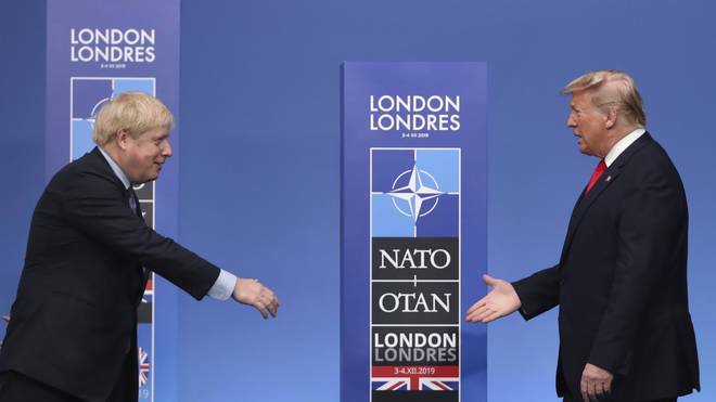 Boris and Trump were finally pictured together at the NATO summit
