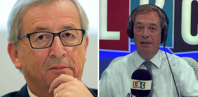 Jean-Claude Juncker Nigel Farage