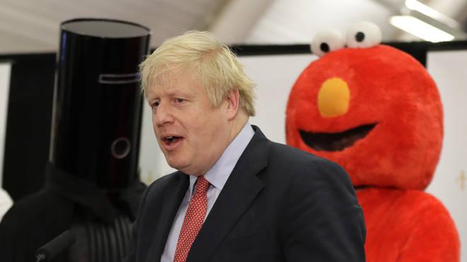 Boris Johnson at his constituency count