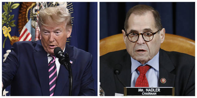 President Donald Trump (left) and House Judiciary Committee Chairman Jerrold Nadler