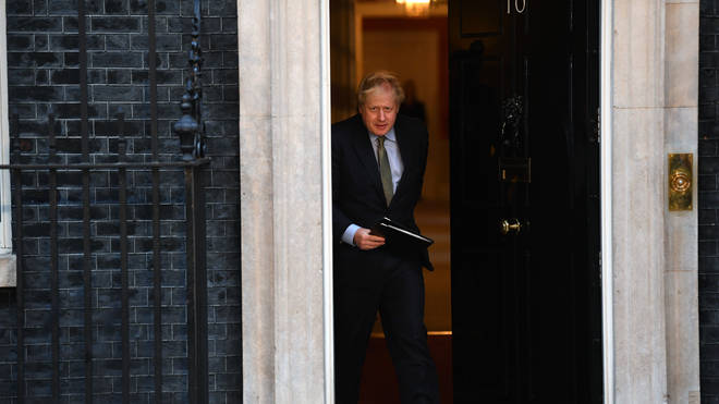 The PM leaves No 10 to make his speech