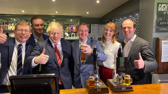 Boris Johnson has been celebrating in Sedgefield