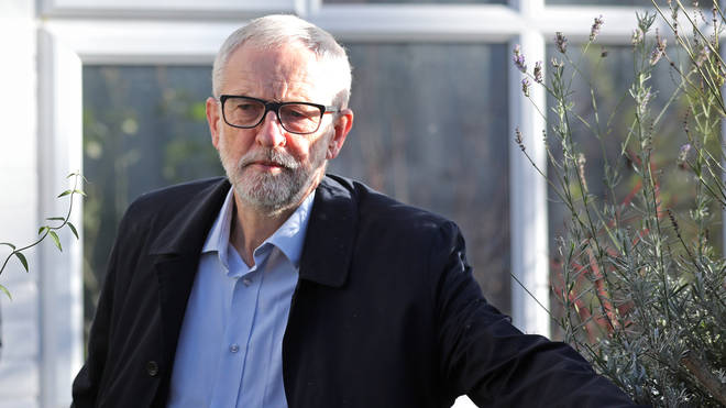The party suffered its worst performance at an election since 1935. Mr Corbyn is seen leaving his home this morning