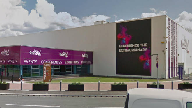 The event was taking place at EventCity near the Trafford Centre in Greater Manchester