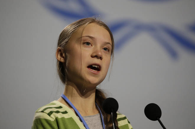 Greta Thunberg made a speech at the UN Climate Change Conference earlier this week