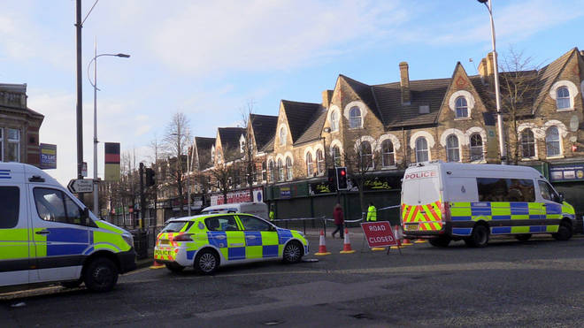 The area remained cordoned off on Sunday morning