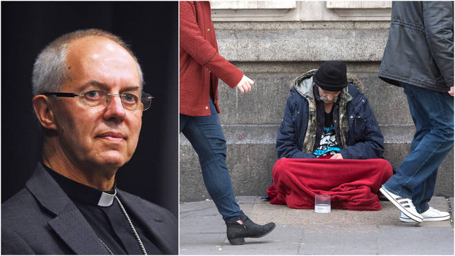 Justin Welby addressed the issue of homelessness
