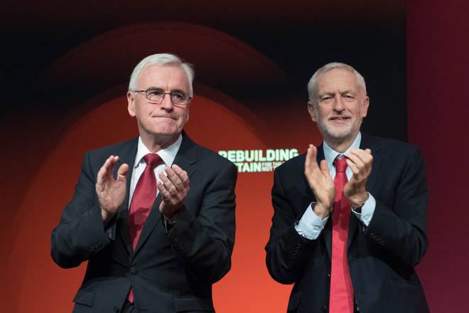 The caller said John McDonnell (left) and Jeremy Corbyn (right) should continue to lead the Labour Party