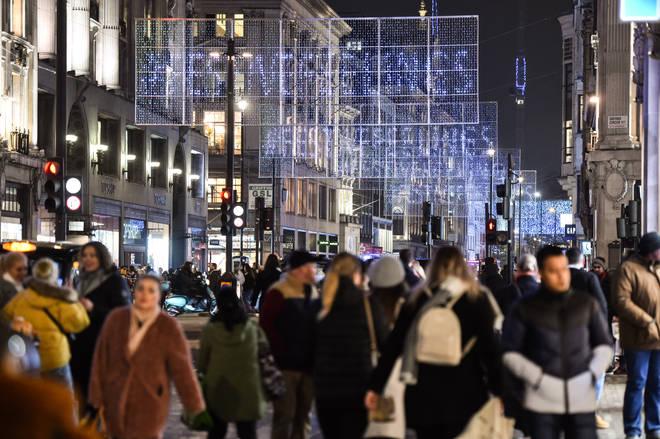 Oxford Street gets very busy around the festive period