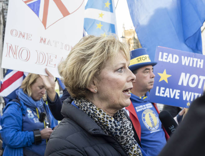 Anna Soubry during an anti-Brexit protest