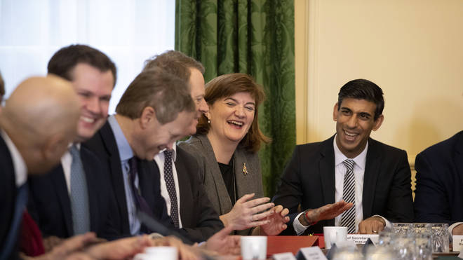 Nicky Morgan raises a smile at the meeting