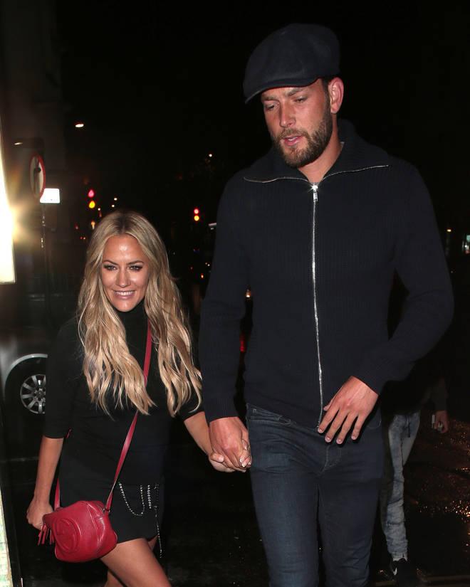 Caroline Flack and Lewis Burton seen at Sexy Fish restaurant in Mayfair