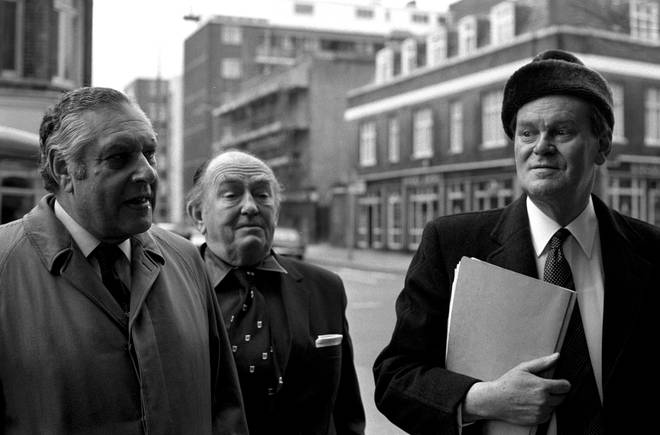 Michael's father Lord Bruce Donington is on the right and Mr John Silkin, Shadow Defence Secretary is far left.