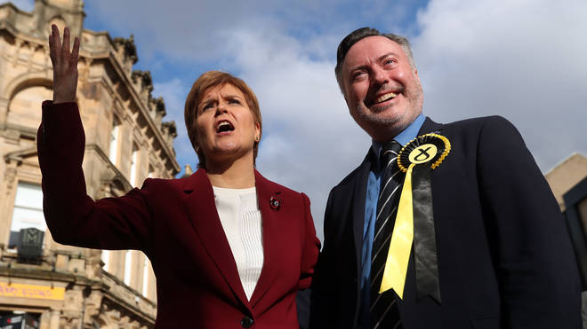 Mr Smith pictured with Nicola Sturgeon