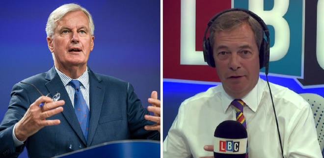 Michel Barnier Nigel Farage