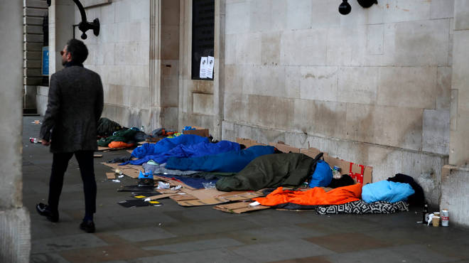 Levels of homelessness in the UK have risen