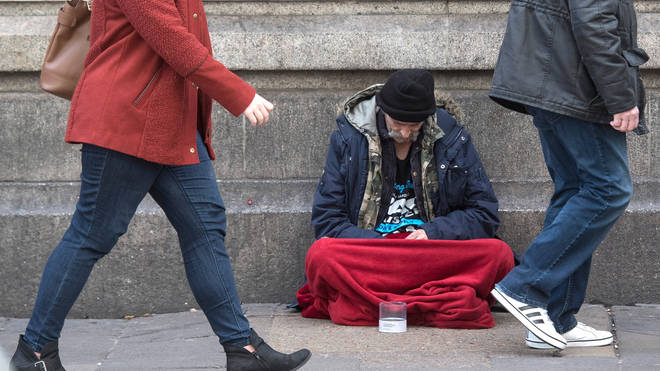 London has the highest rate of homelessness in the UK