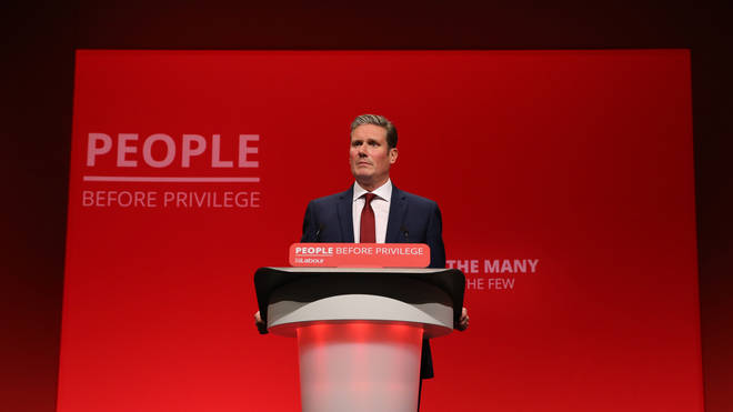 Sir Keir Starmer speaks at the Labour Party Conference