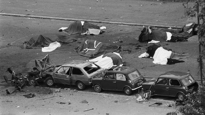 The scene of the Hyde Park bombing