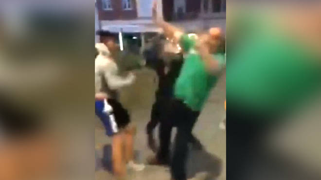 Gang of 30 attack Plymouth man
