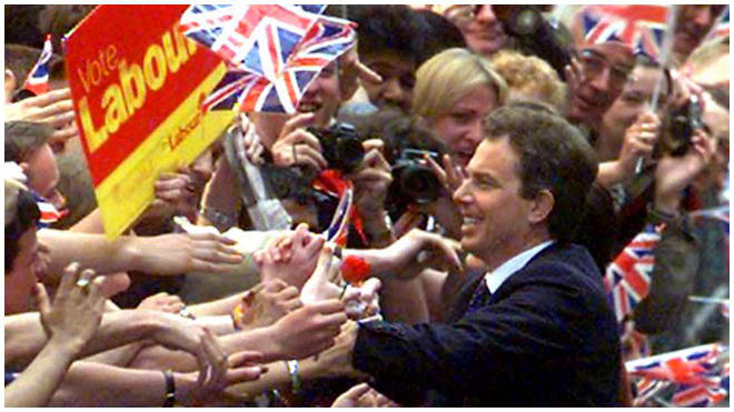 Tony Blair won a landslide in the 1997 general election