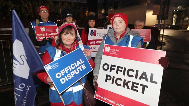 Nurses are striking across Northern Ireland