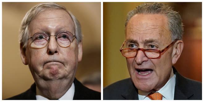 Senate Majority Leader Mitch McConnell and Senate Minority Leader Charles E. Schumer.