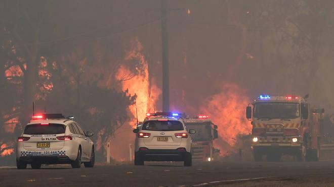 Emergency services battled the blaze