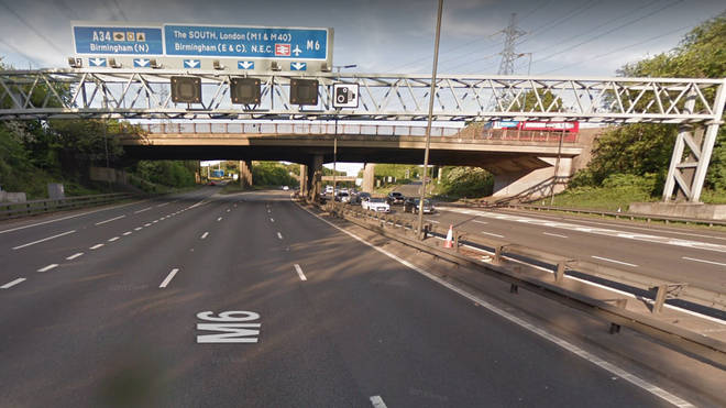 Police found the boy wandering on the M6