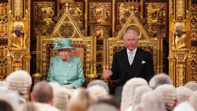 The Queen was accompanied by Prince Charles