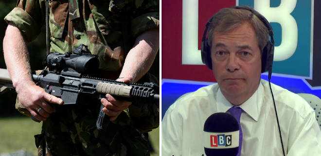 Soldier Nigel Farage